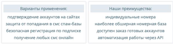 варианты применения сервиса sms-reg.com