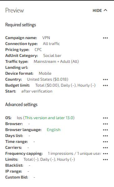Кейс о том, как получить $1000 за неделю на VPN c CPI конверсией