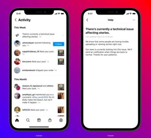 Instagram будет предупреждать пользователей о сбоях в приложении