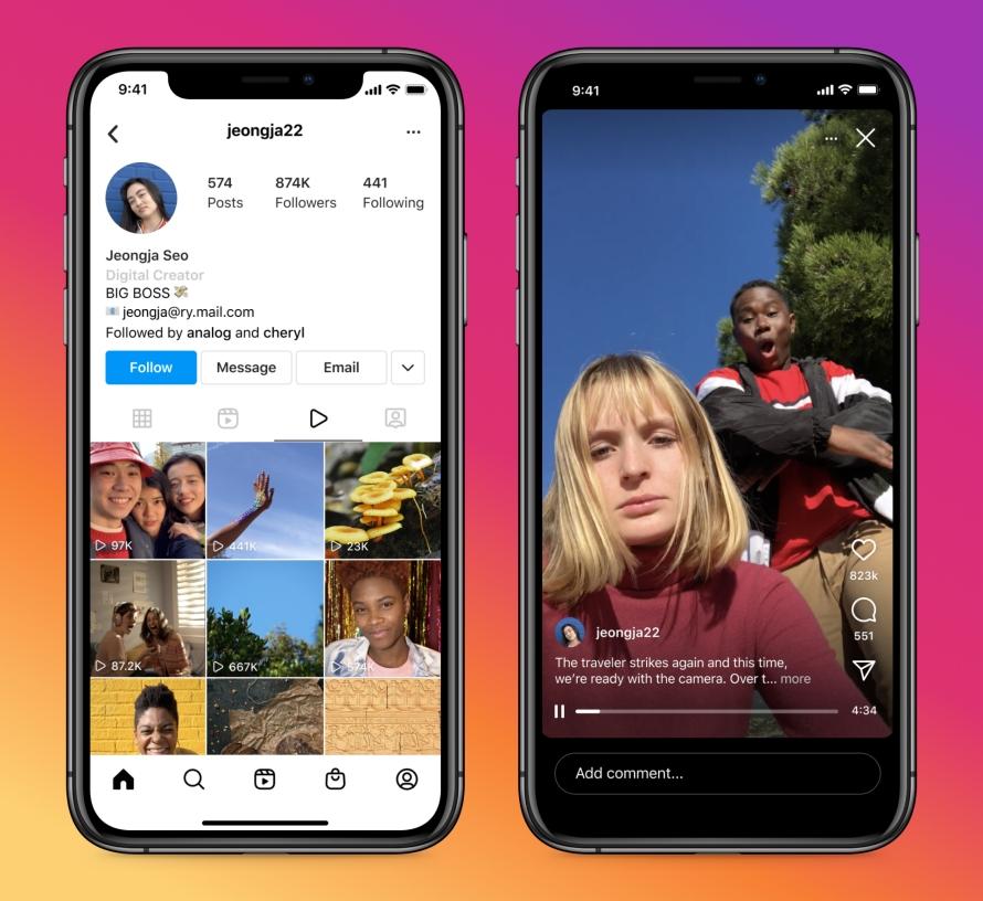 Новый формат видеорекламы Instagram In-Stream от Facebook